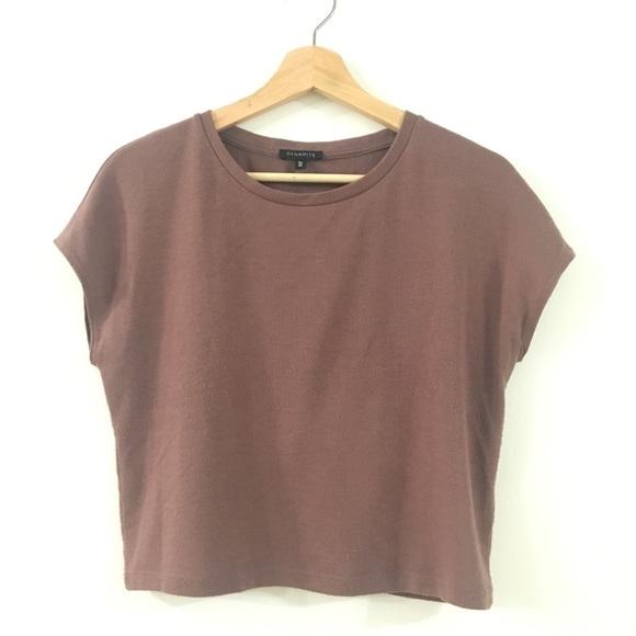 Old Pink / Light Prune Knit T-Shirt